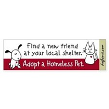 Find a New Friend Bumper Bumper Sticker