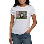Lilies2-Tri Aussie Shep2 Women's T-Shirt