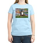 Lilies2-Tri Aussie Shep2 Women's Light T-Shirt