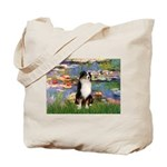 Lilies2-Tri Aussie Shep2 Tote Bag