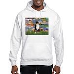 Lilies2-Tri Aussie Shep2 Hooded Sweatshirt