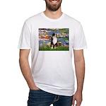 Lilies2-Tri Aussie Shep2 Fitted T-Shirt