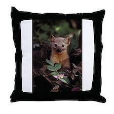 Cute Pine marten Throw Pillow