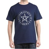 Pentacle Rune Shield T-Shirt