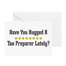 Hugged Tax Preparer Greeting Cards (Pk of 10)