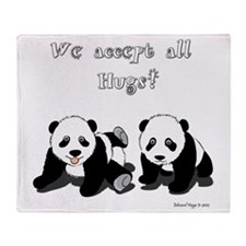 Panda Bear Hugs Throw Blanket