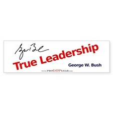 """True Leadership"" Bumper Bumper Sticker"