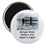 Winter in Michigan Magnet