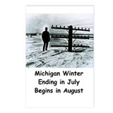 Winter in Michigan Postcards (Package of 8)