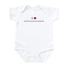 I Love My Husband Curtis my s Infant Bodysuit