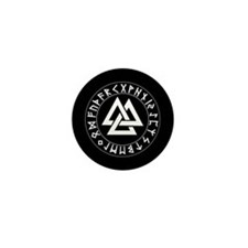 Triple Triangle Rune Shield Mini Button