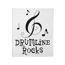 Drumline Rocks music Throw Blanket