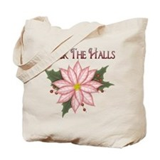 Pink Poinsettia Tote Bag