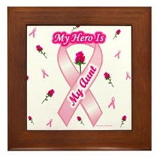 My Aunt My Hero Framed Tile