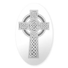 Celtic Knotwork Cross Oval Decal