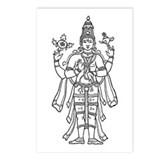 Vishnu - Hindu Diety Postcards (Package of 8)