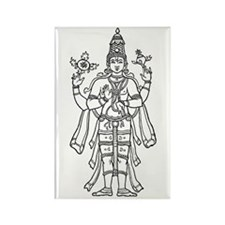 Vishnu - Hindu Diety Rectangle Magnet (100 pack)