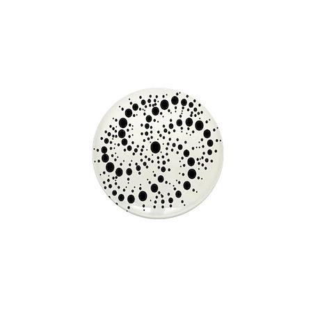 Harmonic Spiral Crop Circle Mini Button