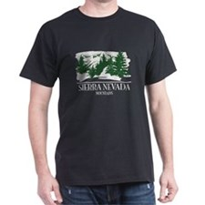 Sierra Nevada Mountain Range T-Shirt