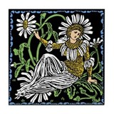 Daisy Fairy Tile Coaster