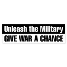 Give War a Chance Bumper Sticker (Black)