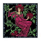 Rose Fairy Tile Coaster