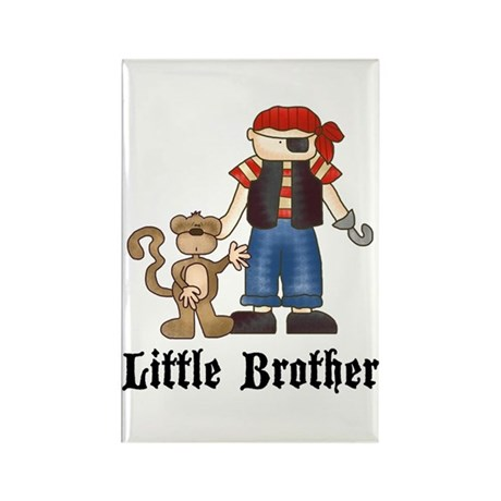 Pirate Little Brother Rectangle Magnet