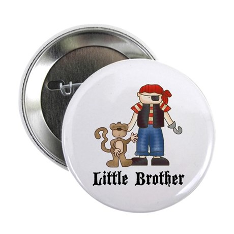 Pirate Little Brother Button