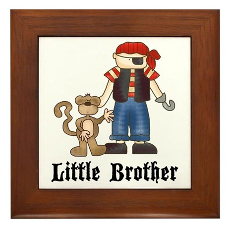 Pirate Little Brother Framed Tile