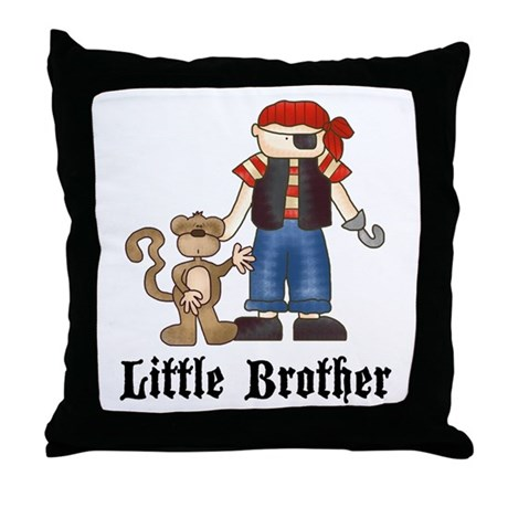 Pirate Little Brother Throw Pillow