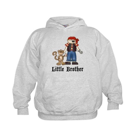 Pirate Little Brother Kids Hoodie