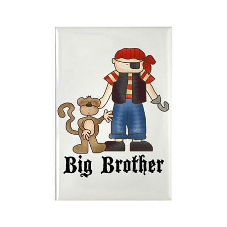 Pirate Big Brother Rectangle Magnet (10 pack)