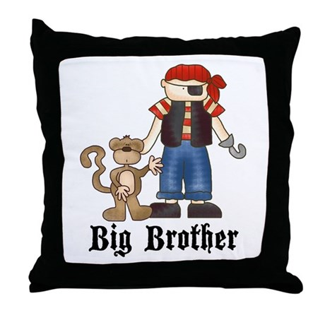 Pirate Big Brother Throw Pillow