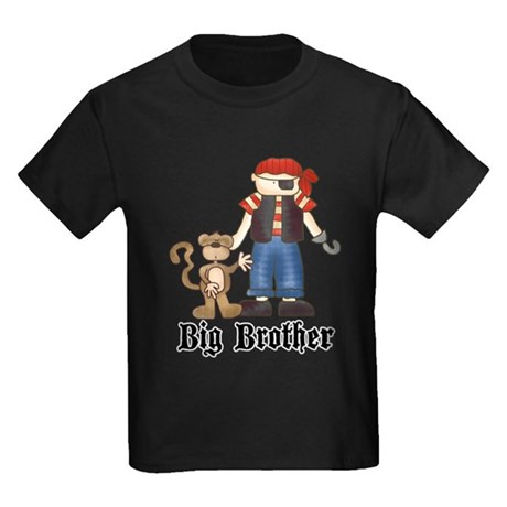 Pirate Big Brother Kids Dark T-Shirt