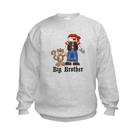 Pirate Big Brother Kids Sweatshirt