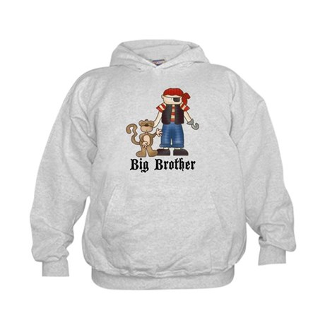 Pirate Big Brother Kids Hoodie