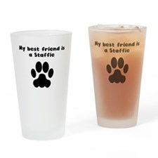 My Best Friend Is A Staffie Drinking Glass