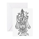 Shiva - Hindu Diety Greeting Cards (Pk of 10)