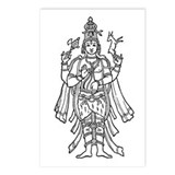 Shiva - Hindu Diety Postcards (Package of 8)