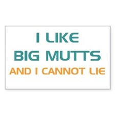 Big Mutts Rectangle Decal