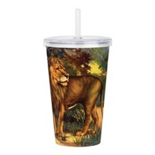 Vintage Lion Painting Acrylic Double-wall Tumbler