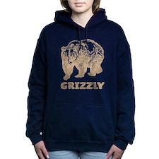 Vintage Grizzly Women's Hooded Sweatshirt