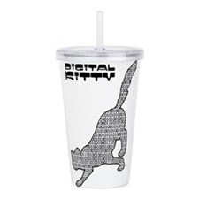 Digital Kitty Acrylic Double-wall Tumbler