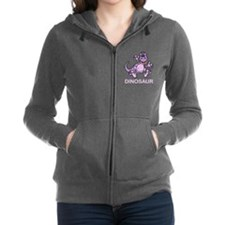 Purple Dinosaur Women's Zip Hoodie