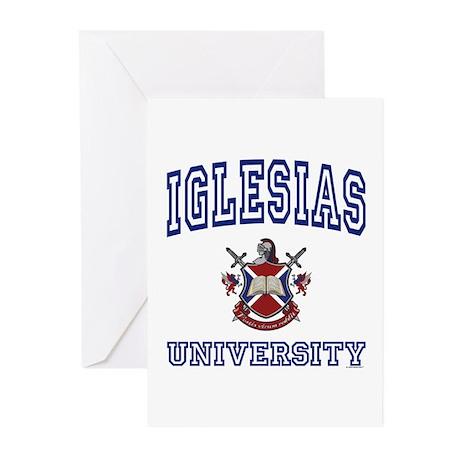 IGLESIAS University Greeting Cards (Pk of 10)