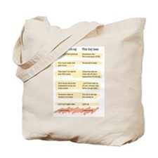 Trainer Quotes Tote Bag