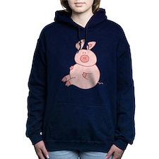 Cute Pig Women's Hooded Sweatshirt