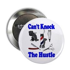 "Cant Knock The Hustle-Blue 2.25"" Button (100 pack)"