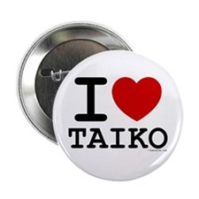 "I Love Taiko - White 2.25"" Button (10 pack)"