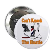 "Cant Knock The Hustle-orange 2.25"" Button (10 pack"